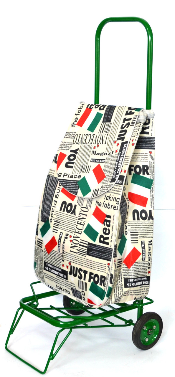 Усиленная хозяйственная сумка тележка на колесах с подшипниками Italia (0078)