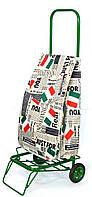 Усиленная хозяйственная сумка тележка на колесах с подшипниками Italia (0078), фото 1