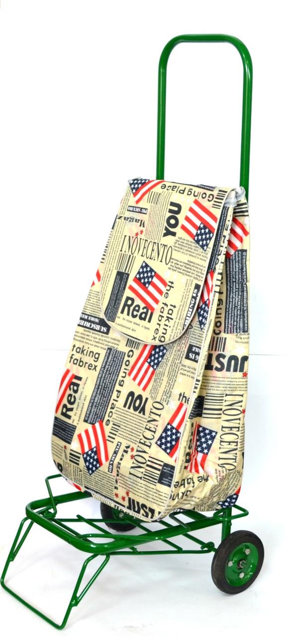 Усиленная хозяйственная сумка тележка на колесах с подшипниками America (0086)