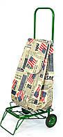Усиленная хозяйственная сумка тележка на колесах с подшипниками America (0086), фото 1