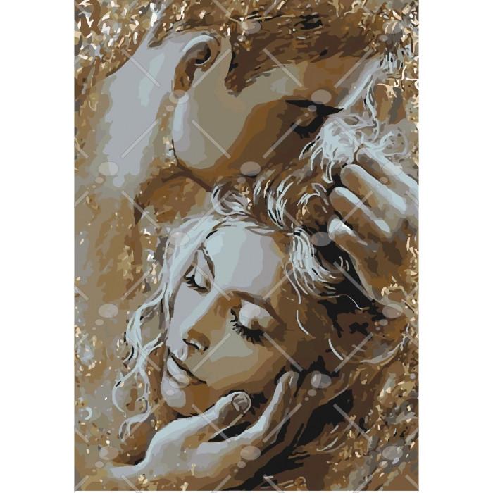 Картина по номерам Золоті обійма, 35x50 см., Идейка