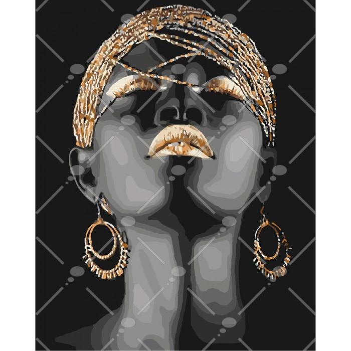Картина по номерам Африканська принцеса, 40x50 см., Идейка