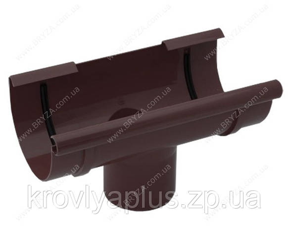 Водосточная система BRYZA 150 воронка желоба коричневый, фото 2