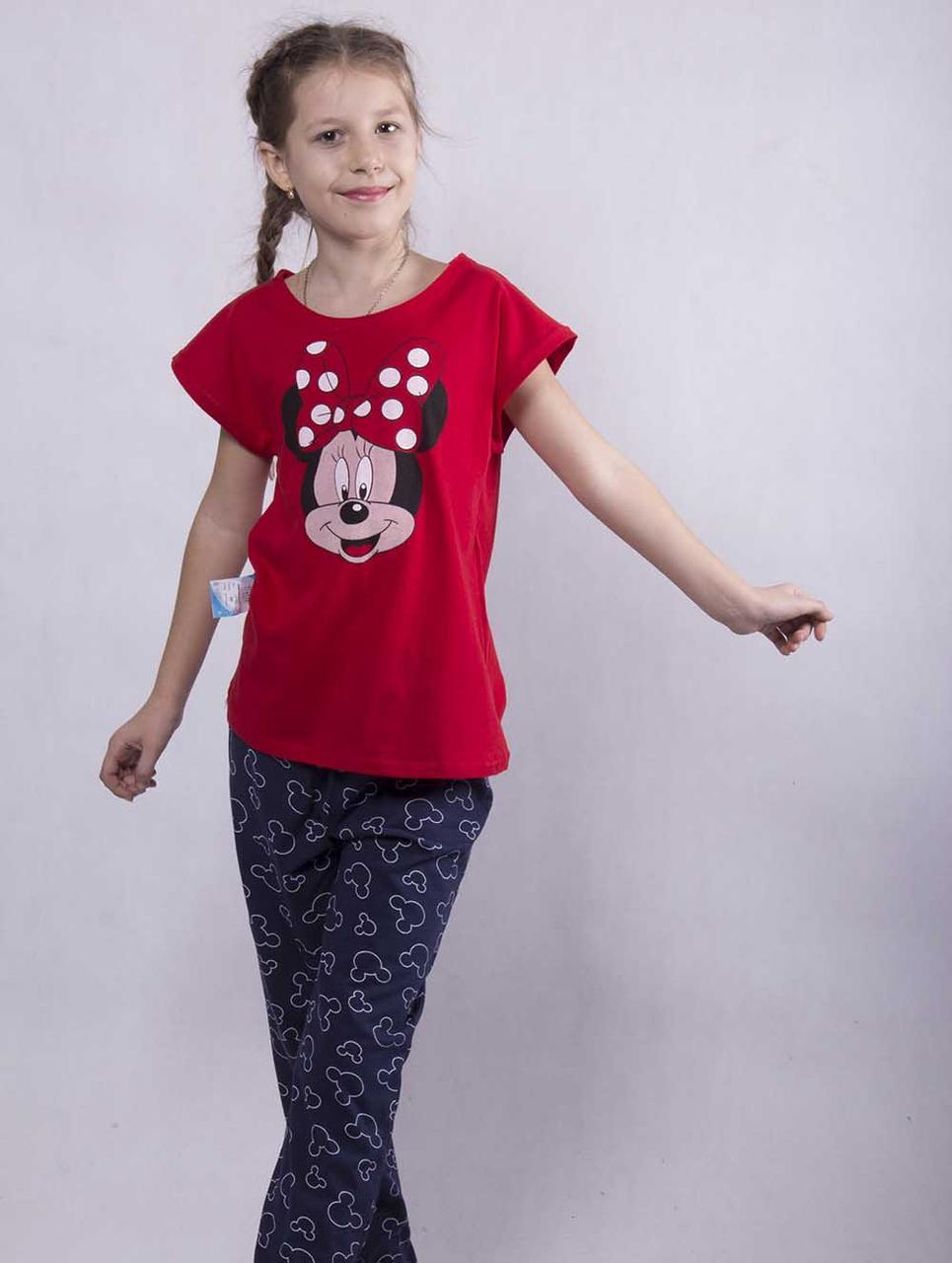 "Подростковая пижама футболка со штанами ""Minnie"" р. 36-38"
