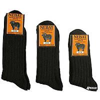 Носки черные из натуральной овечьей шерсти «Nebat»