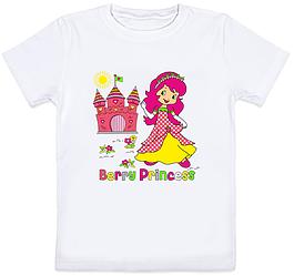 """Детская футболка """"Berry Princess"""" (белая)"""