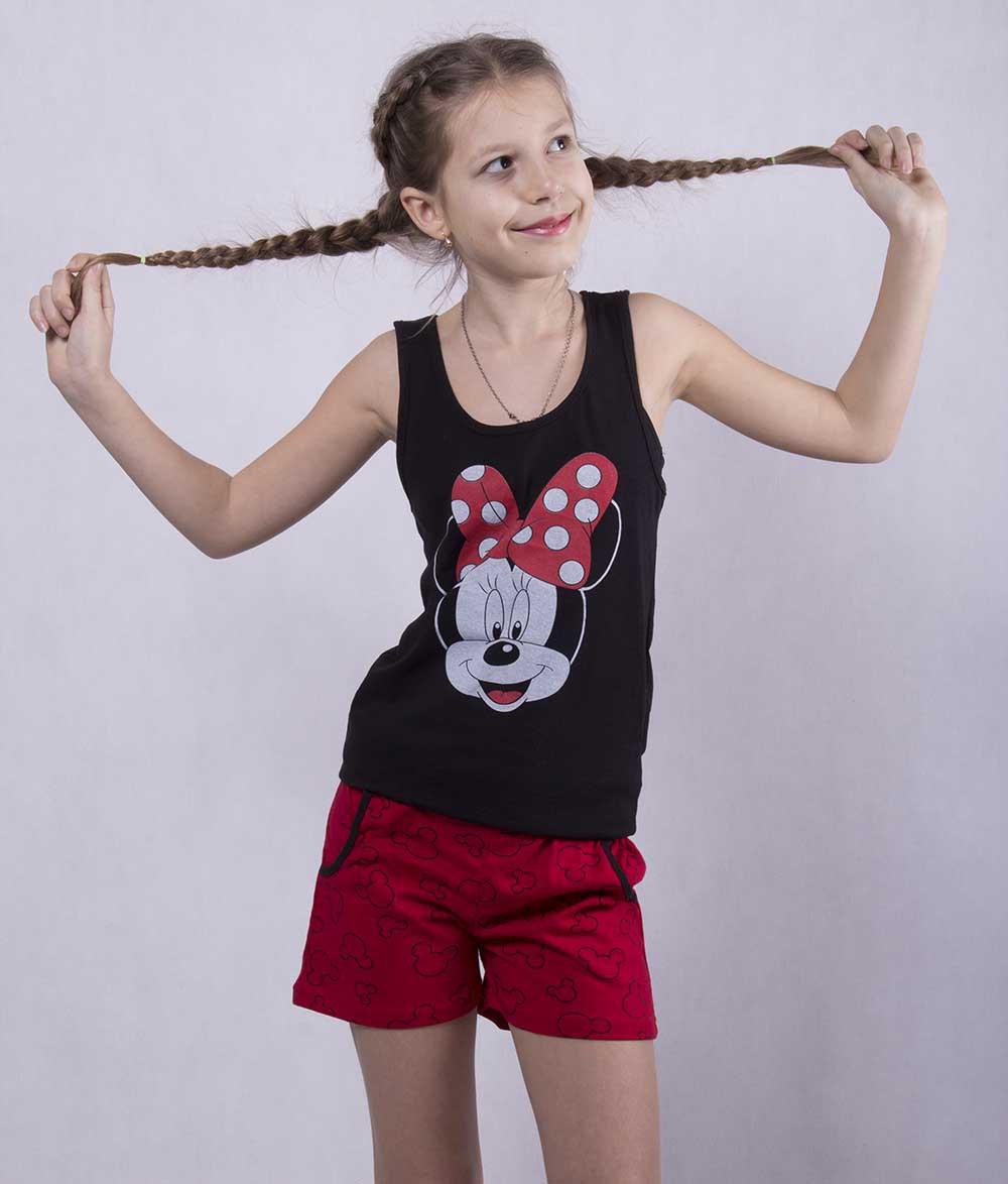 "Подростковая пижама майка с шортами ""Minnie"" р. 36-40"
