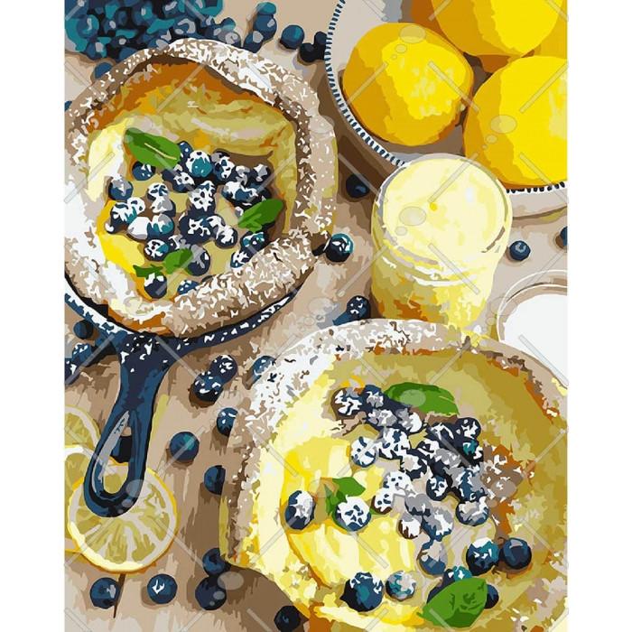Картина за номерами КНО5542 Яскравий сніданок, 40x50 см., Ідейка