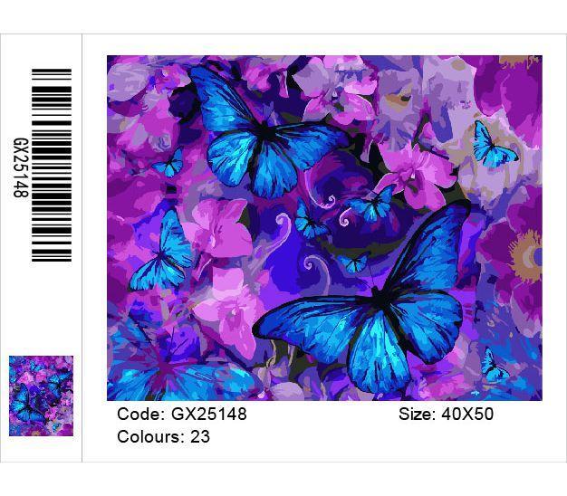 Картина по номерам Магические бабочки у цветах, 40x50 см., Brushme