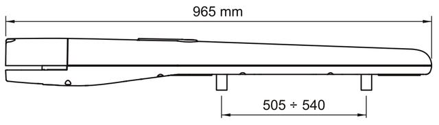Габаритные размеры NICE ТО5024HS