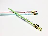 Ручка с камушками и короной (салатовая)