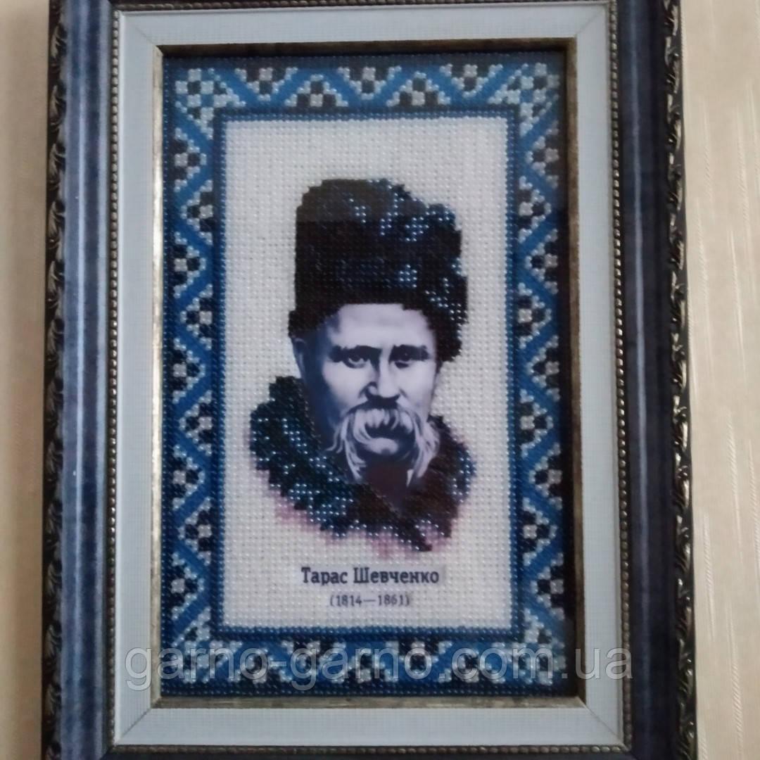 Картина вишита бісером Т. Г. Шевченка.