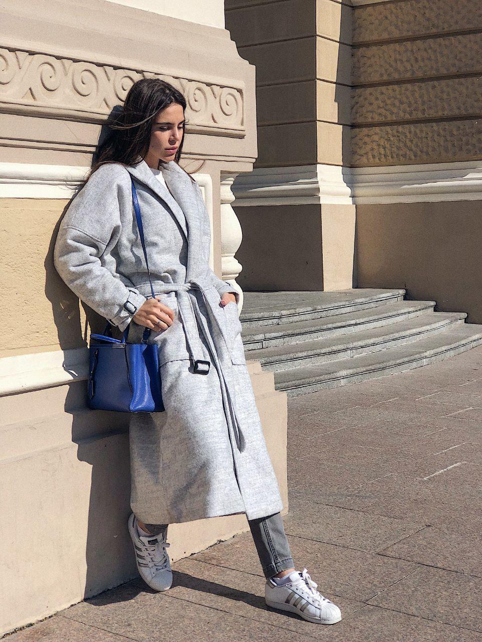 Женское демисезонное пальто оверсайз SMLXL