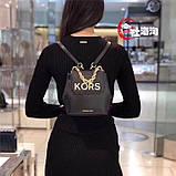 Рюкзак, портфель мини от Майкл Корс натуральная кожа, цвет черный с золотом, фото 10
