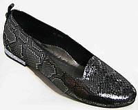 Стильные женские туфли-балетки рептилия 36-44р.