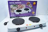 Электроплитка двухконфорочная Royal Master - 2 000 W., фото 3