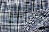 Ткань Лен натуральный, рубашечный клетка разноцветная льняная нить №710 эко, фото 1