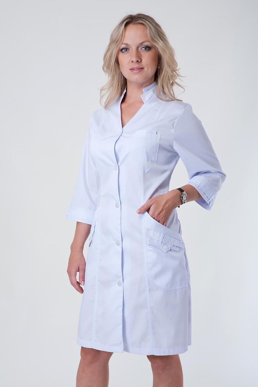 Стильний жіночий халат з натуральної бавовни