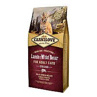"""Сухой корм Carnilove Cat """"Lamb & Wild Boar Sterilised"""" 39/14 (с ягненком и диким кабаном для стерилизованных кошек) 6 кг"""