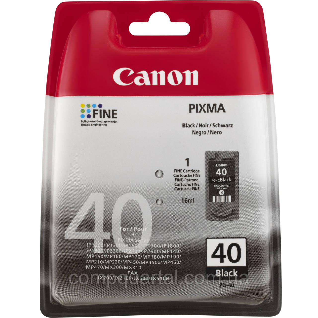 Картридж Canon PG-40 Black (0615B025AA)