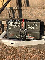 Женская сумка в стиле Pinko (Пинко), черный цвет, фото 1