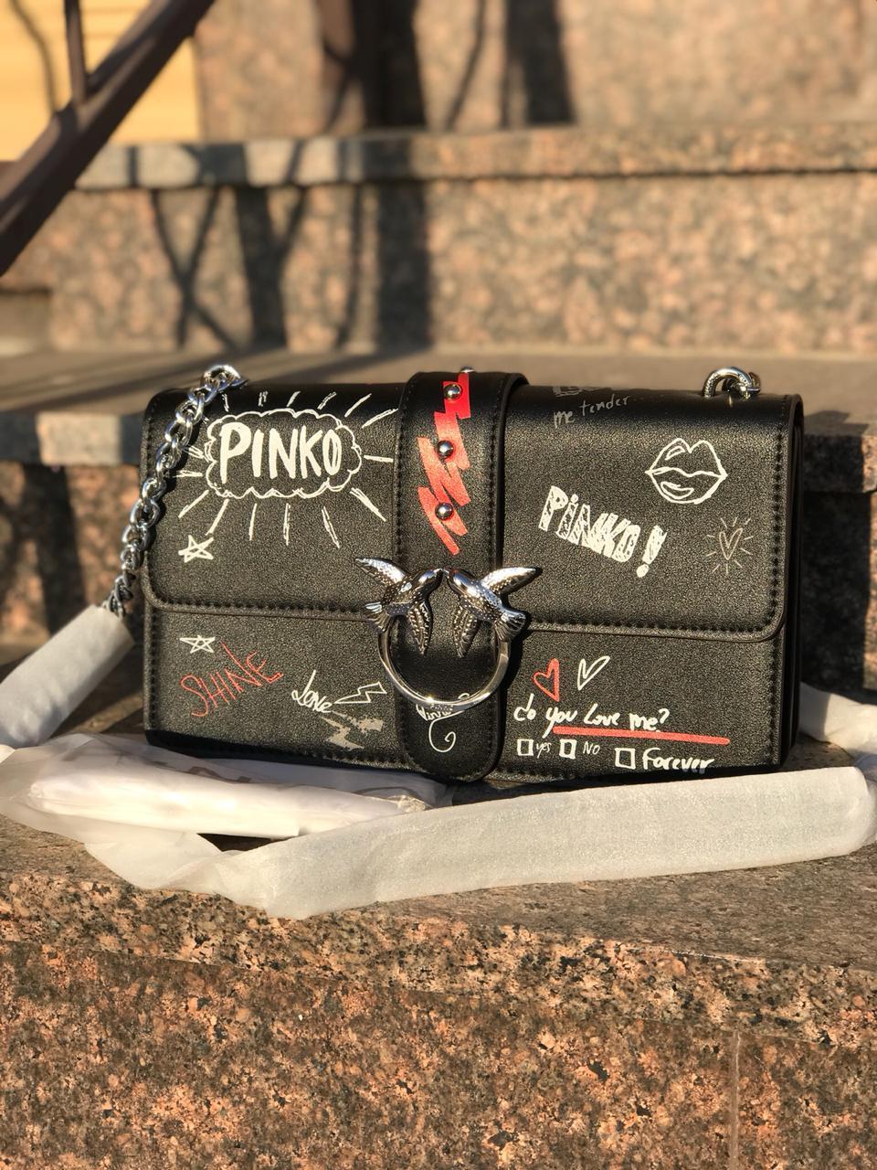 Женская сумка в стиле Pinko (Пинко), черный цвет