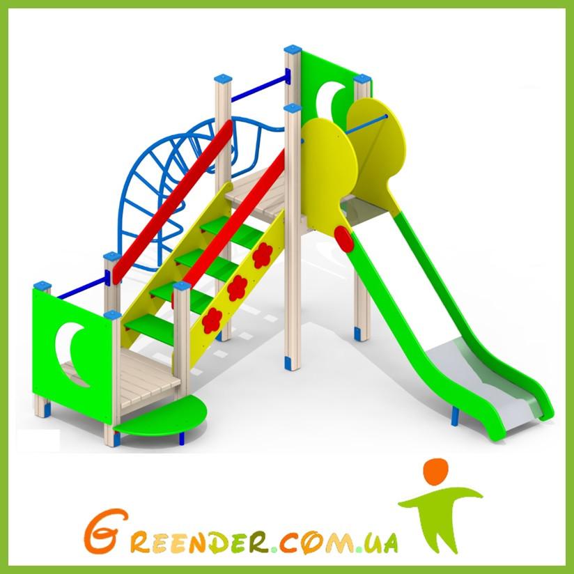 Спортивные игровые площадки деревянные для детей I95