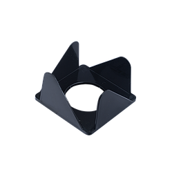 Бокс для паперу 80х80х45мм, JOBMAX, чорний