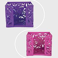 """Бокс для паперів """"BAROCCO"""", металевий, рожевий,фіолетовий"""