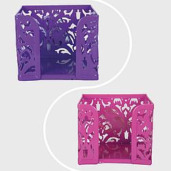 """Бокс для бумаг """"barocco"""", металлический, розовый, фиолетовый"""