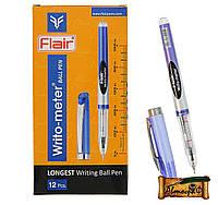 "Ручка шариковая ""Flair Sporty Writo meter"" 10 км  синяя / 12уп,144бл"