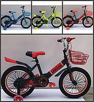 """Велосипед дитячий, 16"""" колеса. Червоний\синій\салатовий\помаранчевий, фото 1"""