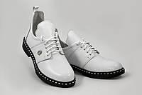 Туфли женские из натуральной кожи белый (W1-white)