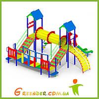 Деревянная детская игровая площадка уличная I105
