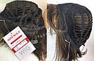 💎 Парик из натуральных волос каре с чёлкой коричневый женский 💎, фото 6