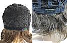 💎 Парик из натуральных волос каре с чёлкой коричневый женский 💎, фото 7