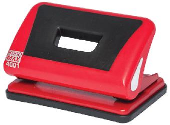 Діркопробивач пластиковий з гумовою вставкою, BUROMAX, 10 аркушів