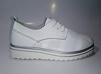Женские кожаные туфли на шнурках ТМ Allshoes, фото 1