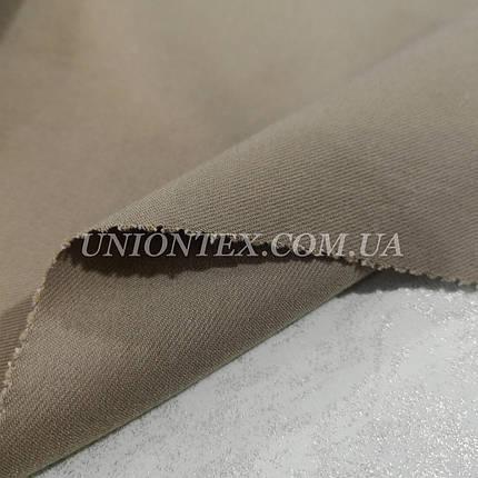 Ткань джинс-бенгалин бежевый, фото 2