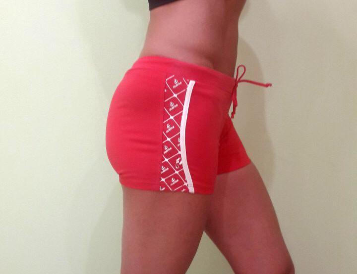 Шорты женские OUDIKE мини красные с узорами для спорта