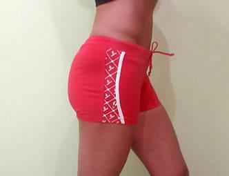 Шорты женские OUDIKE мини красные с узорами для спорта, фото 2