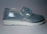 Женские кожаные летние туфли на шнурках ТМ Allshoes, фото 1