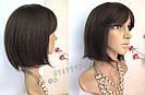 💎 Парик из натуральных волос женский, каре с чёлкой 💎, фото 4