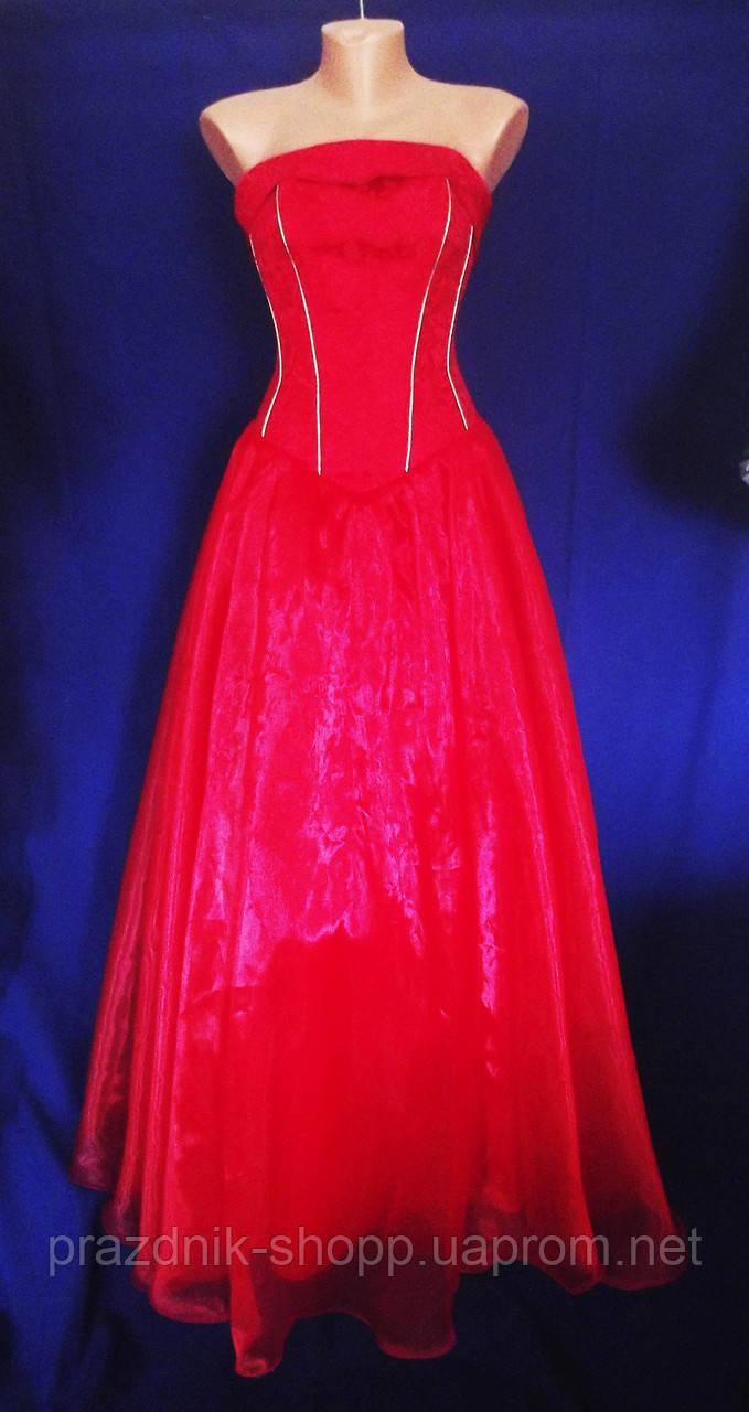 Вечернее платье, красное.