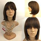 💎 Женский парик каре коричневый из натуральных волос 💎, фото 4