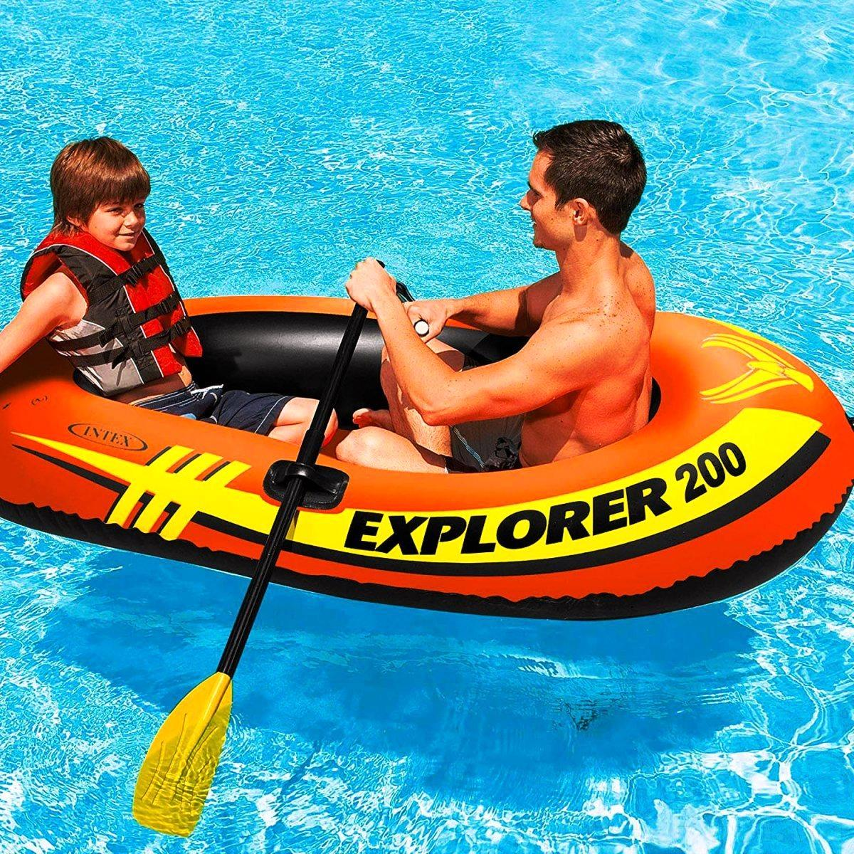 Полутораместная Intex надувний човен 58330 Explorer 200, 185 х 94 х 41 см