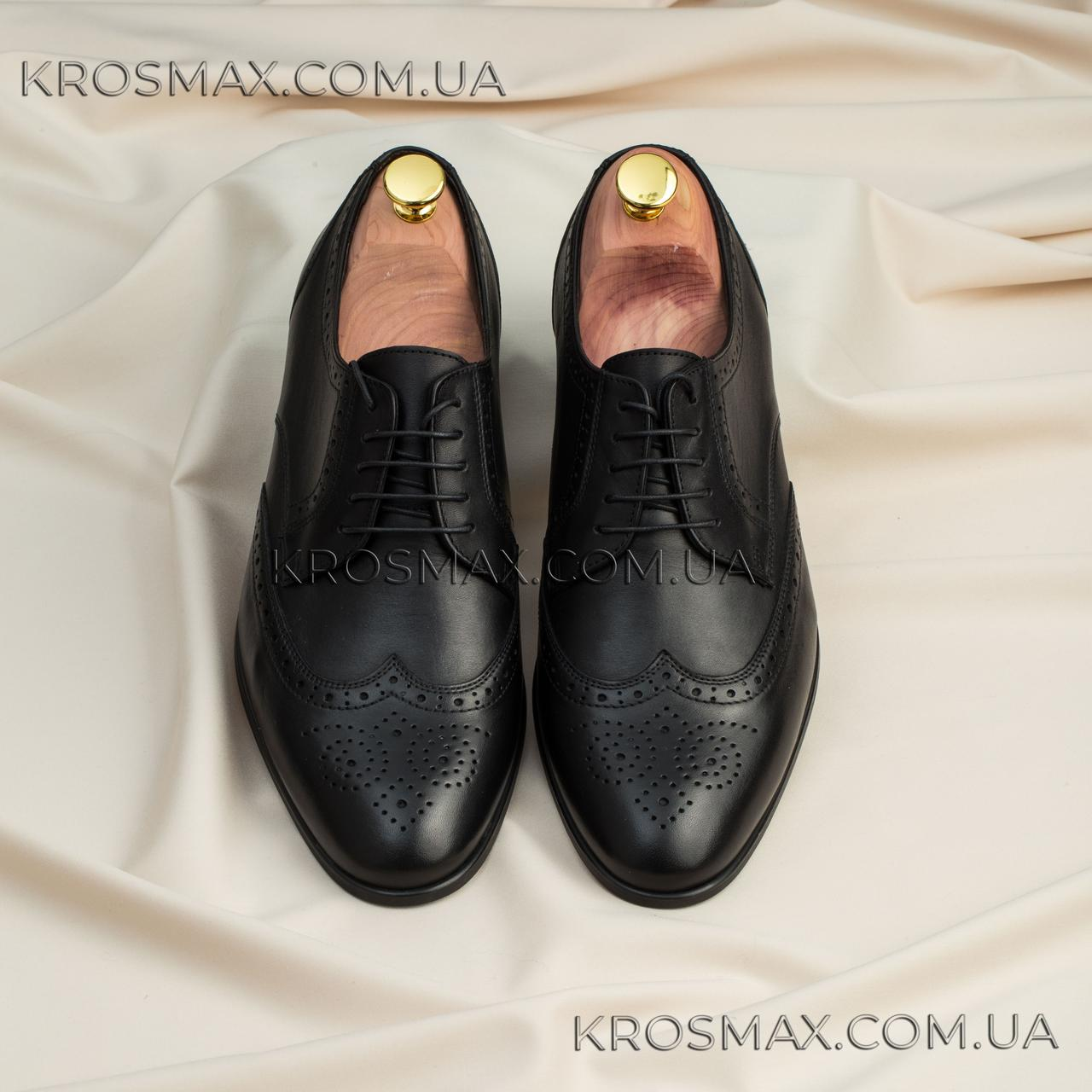 Мужские кожаные туфли ikos (броги/оксфорды)