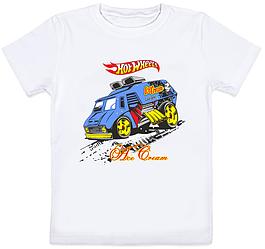"Детская футболка Hotwheels ""Ice Cream"" (белая)"