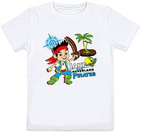 "Детская футболка ""Jake and the Never Land Pirates"" (белая)"