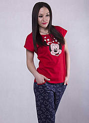 "Женская пижама футболка со штанами ""Minnie"" р. 42-50"